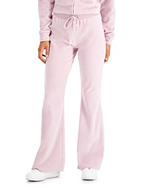 Juniors' Velour Pull-On Sweatpants