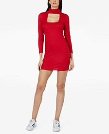Ribbed Face Mask Bodycon Dress