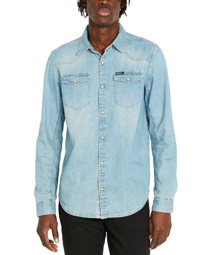 Buffalo David Bitton Men's Sheldon Long Sleeve Denim Shirt & Reviews - Casual Button-Down Shirts - Men - Macy's