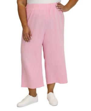 Maree Pour Toi Linens WOMEN'S PLUS SIZE LINEN CROPPED PANT