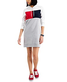 Colorblocked Sweatshirt Dress