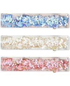 INC 3-Pc. Gold-Tone Glitter Hair Barrette Set, Created for Macy's