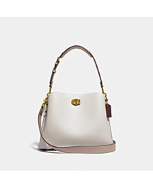 Willow Shoulder Bag In Colorblock Leather