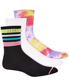 Women's 3pk Assorted Crew Socks, Created for Macy's