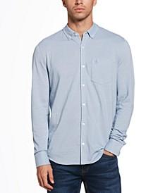 Men's Knit Button-Down Shirt