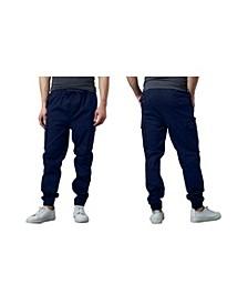 Men's Slim-Fit Classic Cotton Stretch Cargo Joggers