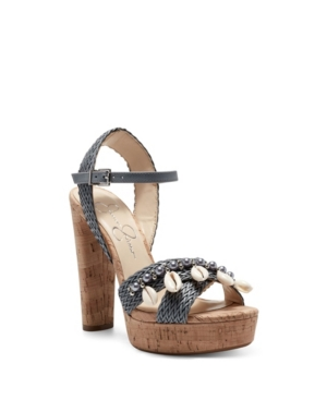 Jessica Simpson WOMEN'S IVRIELE EMBELLISHED PLATFORM SANDALS WOMEN'S SHOES
