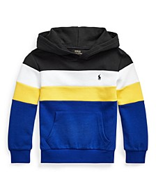 Little Boys Color Blocked Double Knit Hoodie