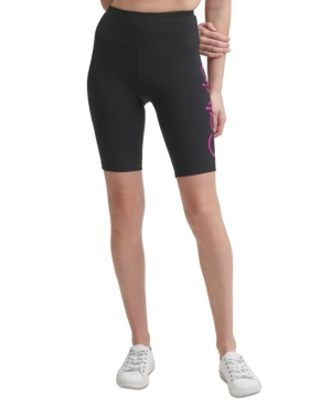 Calvin Klein Performance Logo High-waist Bike Shorts In Confetti Foil