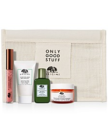Choose your Free 5PC Gift Set with Custom Co-Branded Cosmetics Bag with any $55 Origins Purchase! (Up to a $135 Value!)
