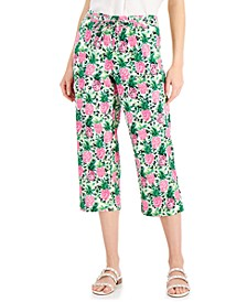 Cropped Floral-Print Pants, Created for Macy's