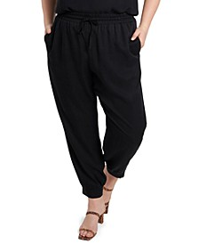 Trendy Plus Size Drawstring-Waist Pants