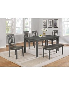 CLOSEOUT! Lake Norman Dining table + 4Side Chairs, and Bench