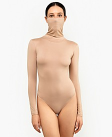 Long-Sleeve Bodysuit with Attached Mask, Created for Macy's