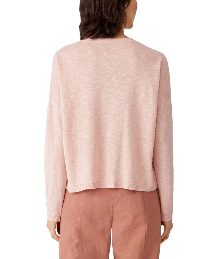 Eileen Fisher Organic Crewneck Boxy Sweater & Reviews - Sweaters - Women - Macy's