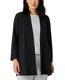 Organic Open-Front Jacket, Regular and Plus Sizes