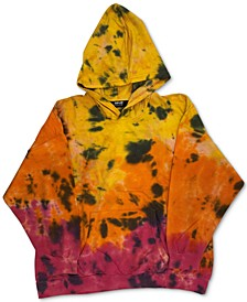 Trendy Plus Size Tie-Dyed Pullover Hoodie