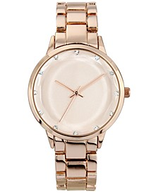 INC Women's Rose Gold-Tone Bracelet Watch 36mm, Created for Macy's