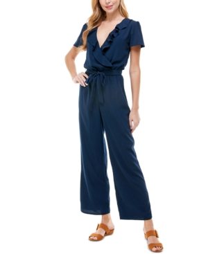 Belted Ruffled Jumpsuit