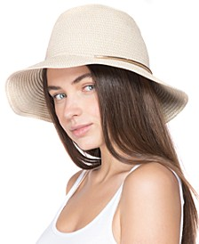 INC Straw Tweed Cloche Hat With Metal Detail, Created for Macy's