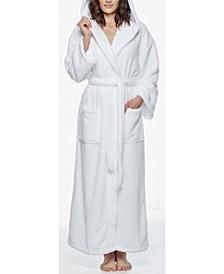 Women's Hooded Full Ankle Length Fleece Bathrobe