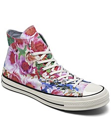 Men's Chuck 70 Floral High Top Casual Sneakers from Finish Line