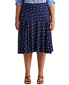 Plus Size Crepe Peasant Skirt