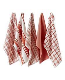 Design Import Asst Spice Woven Dishtowels, Set of 5