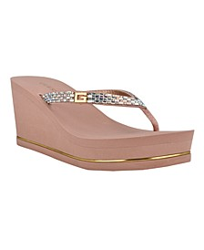 Women's Sinndey Eva Flip Flop Wedge Sandal