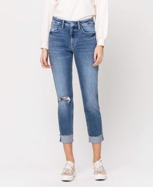 Women's Stretch Boyfriend Crop with Single Cuff Jeans