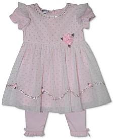 Baby Girls 2-Pc. Tulle Tunic & Leggings Set