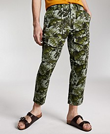 Men's Bleeker Regular-Fit Palm-Print Cropped Cargo Pants