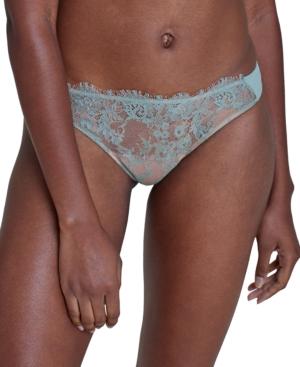 Skarlett Blue Panties WOMEN'S ENTICE EYELASH LACE TRIM THONG 371143