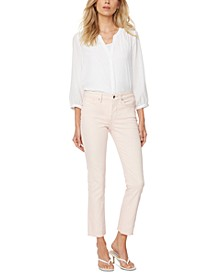 Slim-Fit Sheri Straight-Leg Raw-Hem Ankle Jeans