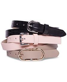 Women's 3-For-1 Skinny Belts
