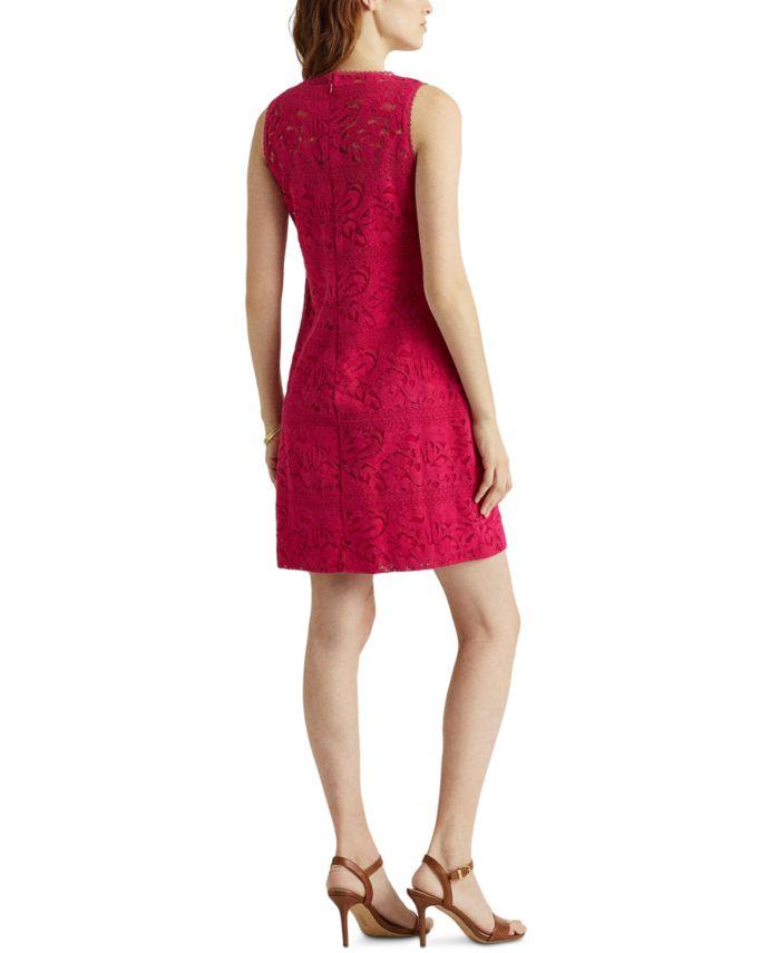 Lauren Ralph Lauren Floral Striped Lace Dress & Reviews - Dresses - Women - Macy's