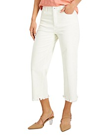 INC Cropped Wide-Leg Jeans, Created for Macy's