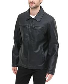 Men's Regular-Fit Faux-Leather Jacket