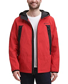 Men's Regular-Fit Hooded Rain Jacket