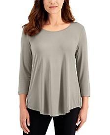 Scoop-Neck Top, Regular & Petite Sizes, Created for Macy's