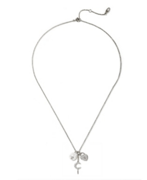"""Pearl Charm Necklace 16"""" + 2"""" extender"""