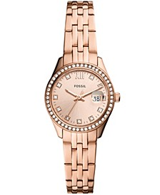 Women's Micro Scarlette Rose Gold-Tone Bracelet Watch 28mm