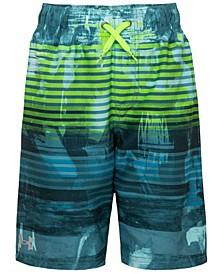Big Boys Scribble-Stripe Volley Shorts