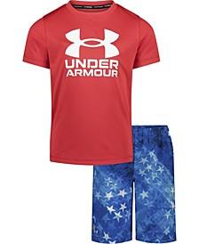 Toddler Boys Americana T-shirt and Swim Shorts Set