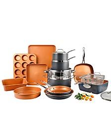 20 Piece Non-Stick Ti-Ceramic Complete Cookware & Bakeware Set