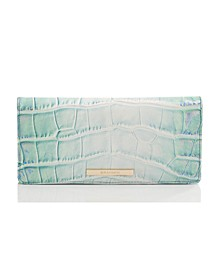 Ady Soleil Embossed Leather Wallet