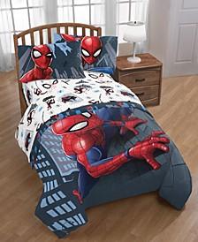 Spiderman Crawl Queen Bed Set, 5 Pieces