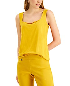 Petite Square-Neck Tank Top, Created for Macy's
