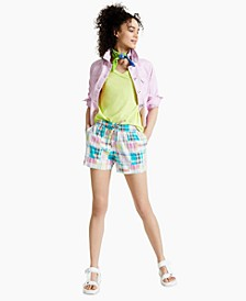 Madras Track Shorts, Created for Macy's