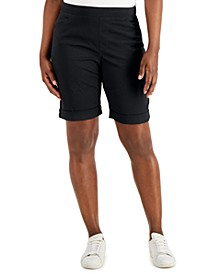Petite Pull-On Cuffed Shorts, Created for Macy's